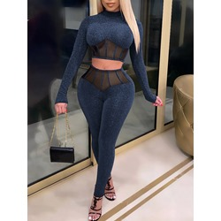 Fashion Pants Pullover Women's Two Piece Sets