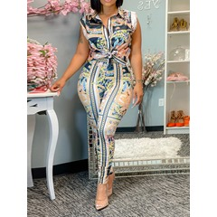 Floral Casual Print Single-Breasted Women's Two Piece Sets