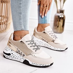 Shoespie Stylish Round Toe Cross Strap Lace-Up Outdoor Sneakers