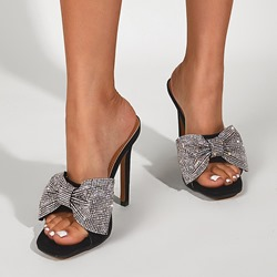 Shoespie Sexy Bow Toe Ring Slip-On Western Slippers