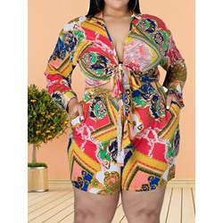 Western Print Floral Women's Two Piece Sets