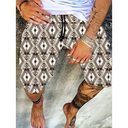 Plaid Lace-Up Casual Lace-Up Casual Pants