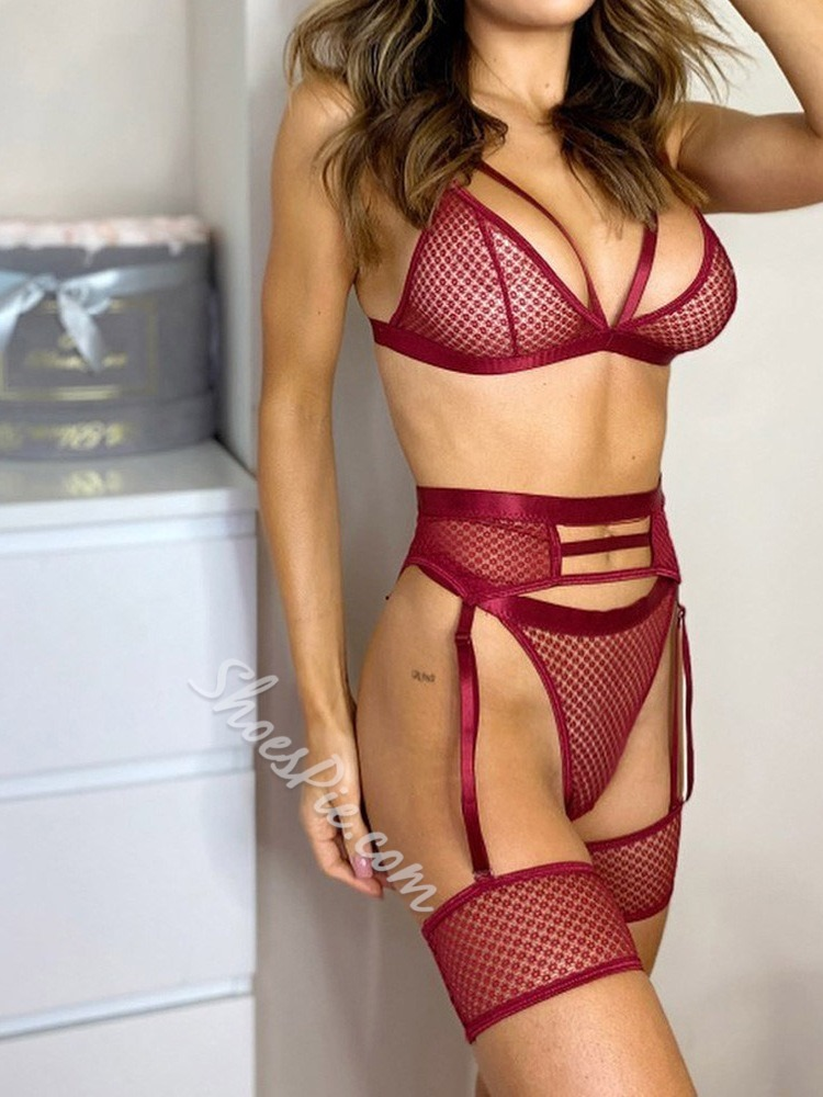 Plain Three-Point Patchwork Sleeveless Polyester Tight Wrap Sexy Sets