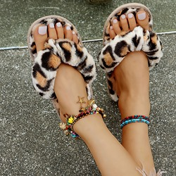 Shoespie Stylish Flat With Thong Slip-On Leopard Slippers