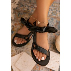 Shoespie Stylish Flat With Open Toe Velcro Thread Sandals