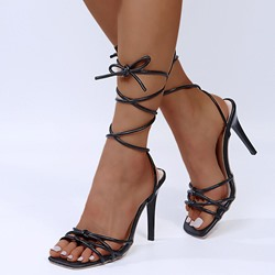 Shoespie Sexy Open Toe Lace-Up Stiletto Heel Professional Sandals