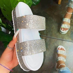 Shoespie Sexy Slip-On Flip Flop Rhinestone Casual Slippers