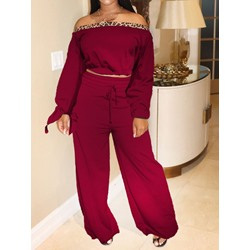 Fashion Shirt Pullover Women's Two Piece Sets