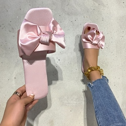 Shoespie Sexy Bow Flip Flop Slip-On Casual Slippers