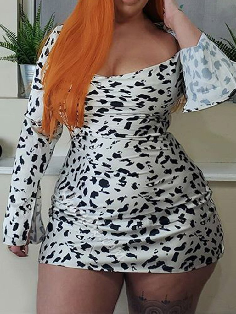 Long Sleeve Above Knee Bodycon Backless Dress