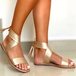 Shoespie Sexy Lace-Up Open Toe Slingback Strap High-Cut Upper Sandals