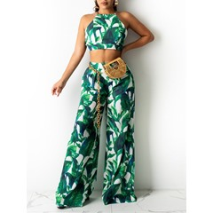 Pants Floral Print Pullover Women's Two Piece Sets