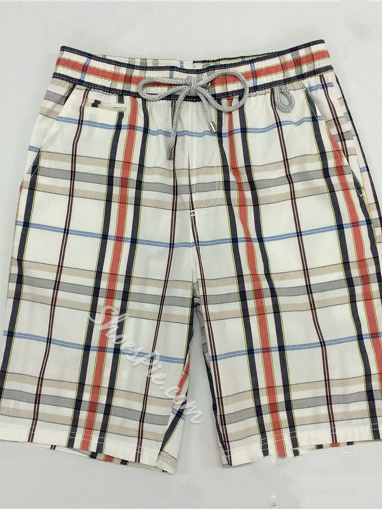 Plaid Lace-Up Summer Casual Casual Pants
