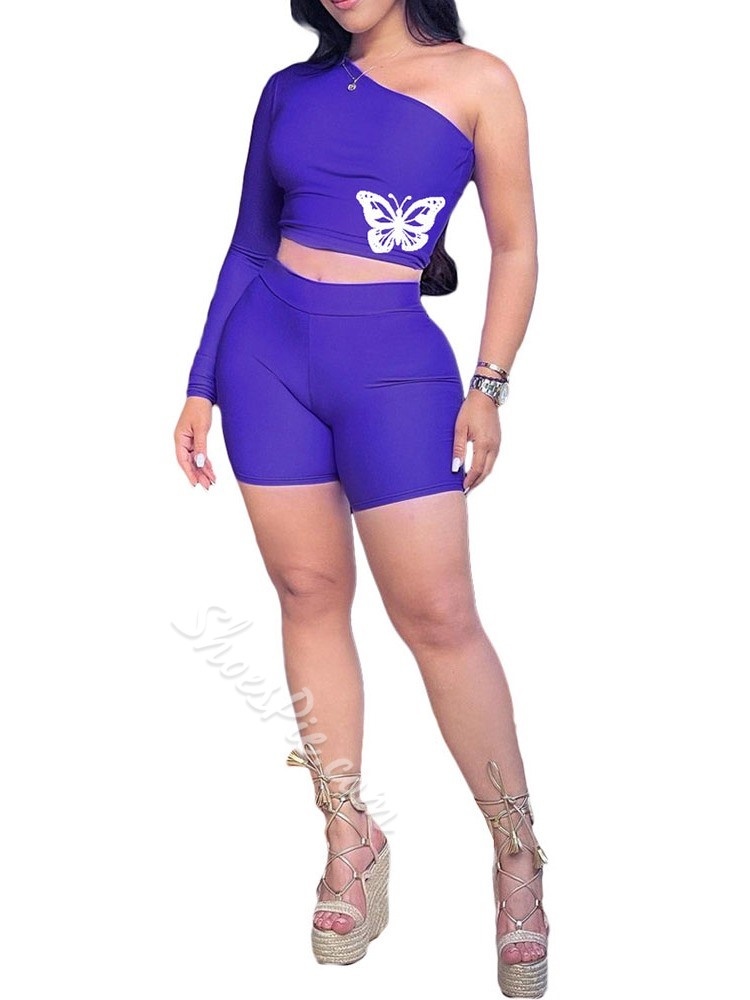 Animal T-Shirt Office Lady Straight Women's Two Piece Sets