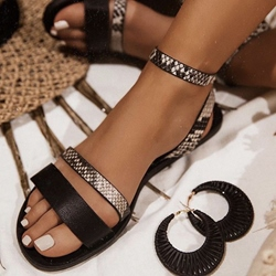 Shoespie Sexy Round Toe Buckle Flat With Casual Sandals