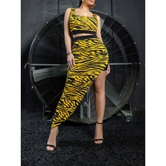 Backless Sexy Vest Pullover Women's Two Piece Sets
