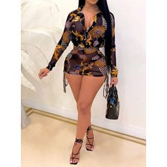 Fashion Button Shirt Single-Breasted Women's Two Piece Sets