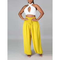 Fashion Lace-Up Pants Pullover Women's Two Piece Sets