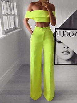 Backless Sexy Pants Pullover Women's Two Piece Sets