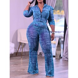 Pants Casual Button Single-Breasted Women's Two Piece Sets
