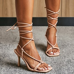 Shoespie Sexy Open Toe Stiletto Heel Lace-Up Western Sandals