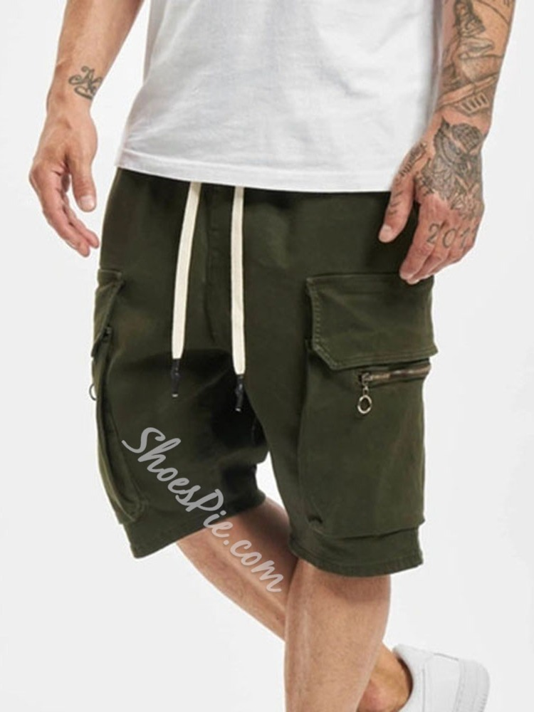 Lace-Up Plain Casual Mid Waist Casual Pants