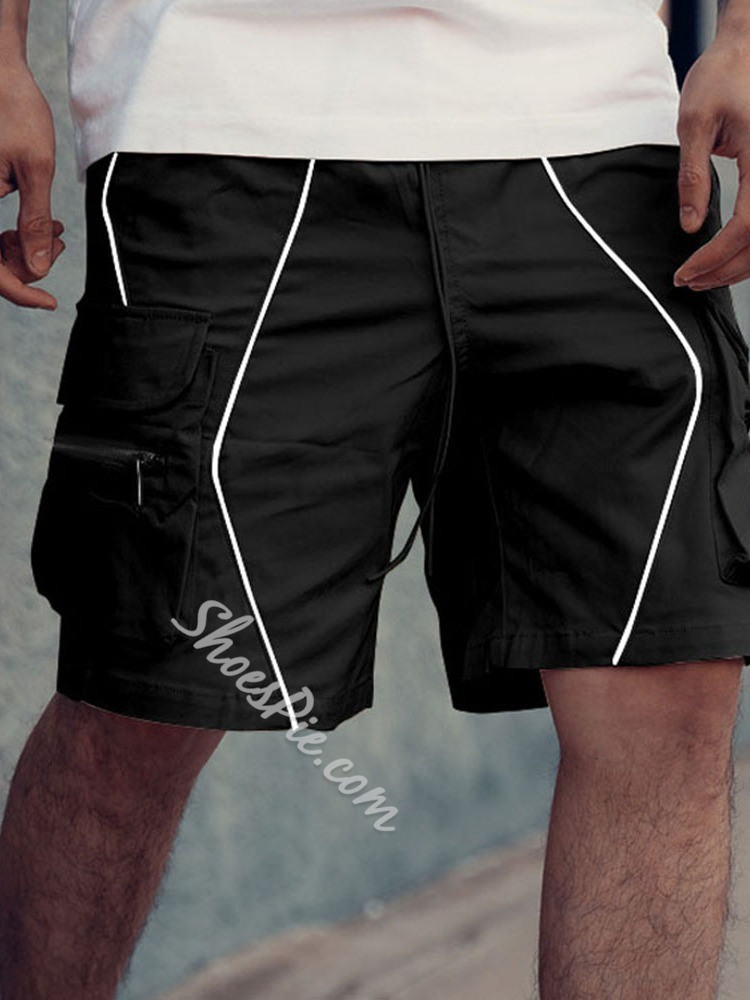 Lace-Up Pocket Casual Casual Pants