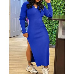 Long Sleeve Ankle-Length Hooded Sexy Women's Dress
