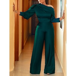 Patchwork Fashion Full Length Straight Women's Jumpsuit