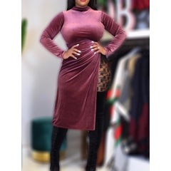 Long Sleeve Lace-Up Mid-Calf Bodycon Women's Dress