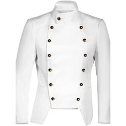 Plain Stand Collar Button Slim Double-Breasted Jacket