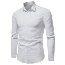Button Lapel OL Spring Single-Breasted Shirt