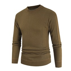 Plain Round Neck Long Casual Fall Sweater