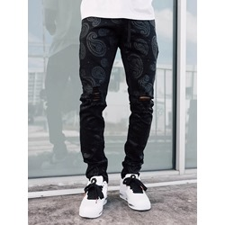 Lace-Up Color Block Straight Lace-Up Fashion Jeans