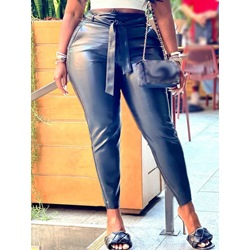 Lace-Up Plain Skinny Ankle Length Women's Casual Pants