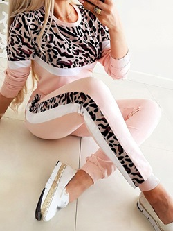 Long Sleeves T-Shirt Fall Pocket Women's Two Piece Sets