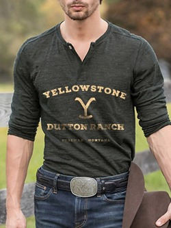 Letter Print Casual Slim Pullover T-shirt
