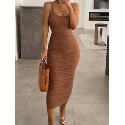Skirt Plain Pleated Bodycon Women's Two Piece Sets