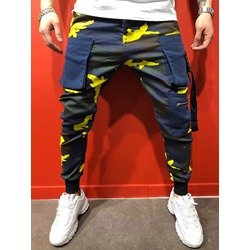 Pocket Overall Camouflage Zipper Preppy Casual Pants