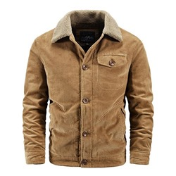 Button Thick Plain Single-Breasted Fashion Jacket