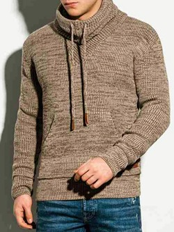 Plain Pocket Pullover Casual Pullover Hoodies