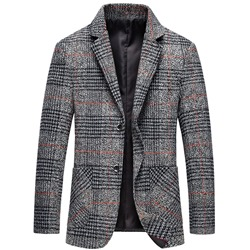Single-Breasted Print Notched Lapel Leisure Blazer
