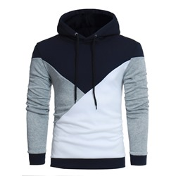Lace-Up Color Block Pullover Hooded Fall Hoodies