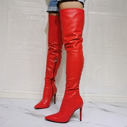 Shoespie Sexy Side Plain Pointed Toe Zipper Stiletto Boots