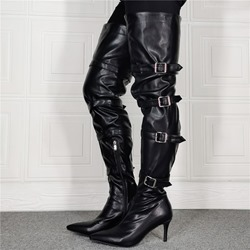 Shoespie Sexy Pointed Toe Stiletto Heel Plain Banquet Boots