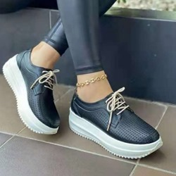 Shoespie Sexy Lace-Up Round Toe Lace-Up Western Sneakers