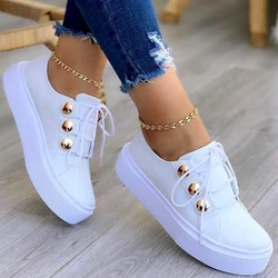 Shoespie Stylish Closed Toe Lace-Up Lace-Up Outdoor Sneakers