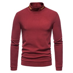 Casual Embroidery Pullover Slim T-shirt