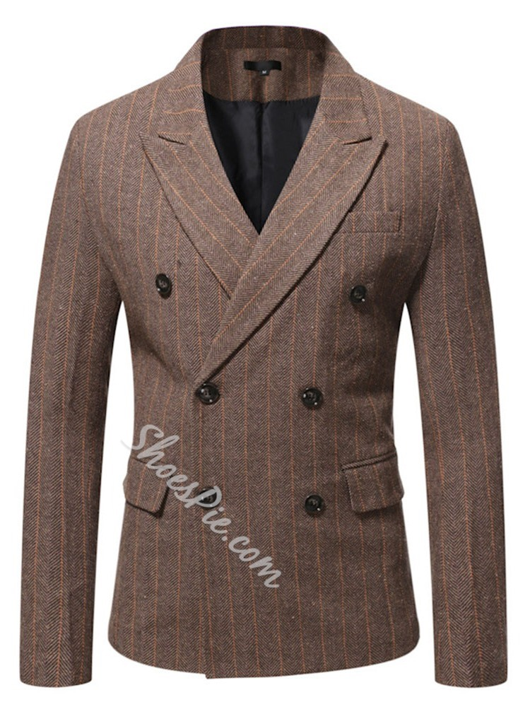 OL Notched Lapel Double-Breasted Blazer
