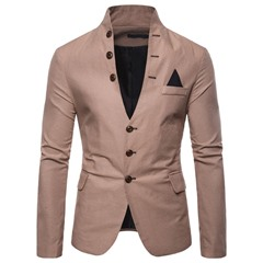 Single-Breasted Stand Collar Casual Leisure Blazer